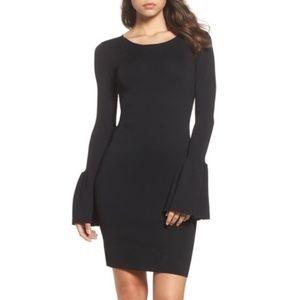 BARDOT Arabella Bodycon Flounce Sleeve Dress I497
